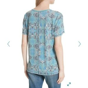 NWT Free People Print Me Perfect Short Sleeve Tee